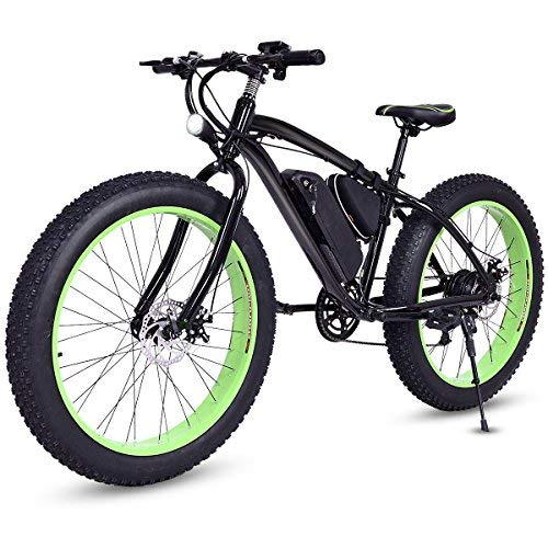 Goplus 26'' Electric Mountain Bike Beach Snow Bicycle Fat Tire Bike w/Lithium Battery 36V 350W E-Bike Electric Bicycle