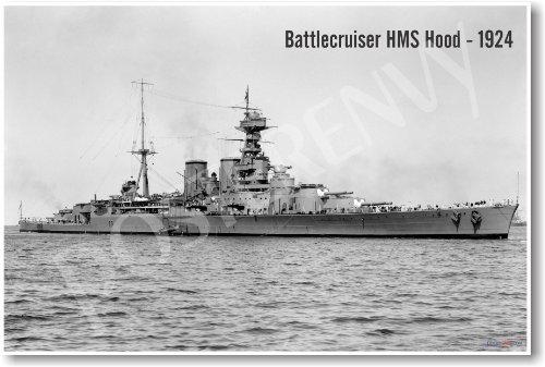 Battlecruiser HMS Hood - 1924 - NEW Vintage Military - Battlecruiser Hood