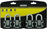 Brinks 672-50401 Commercial 50mm Laminated Steel Lock, 4-Pack