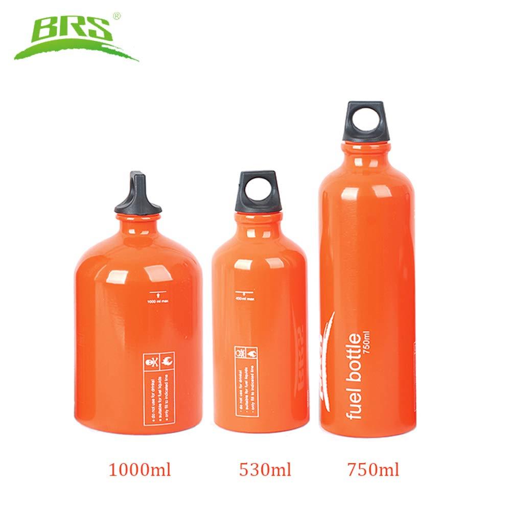 Huenco L/íquido Botella de Combustible Motocicleta Emergencia Gasolina Diesel Keroseno Alcohol Tanque de Gas Almacenamiento de Aceite de Camping Puede 0.53L 0.75L 1L