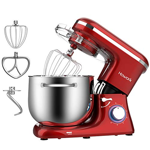 HOWORK Stand Mixer, 8.45 QT Bowl 660W Food Mixer, Multi Functional Kitchen Electric Mixer With Dough Hook, Whisk, Beater…