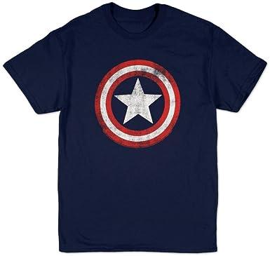 9ccc6fc385fb3 Amazon.com  Marvel Universe Captain America Shield T-Shirt  Clothing