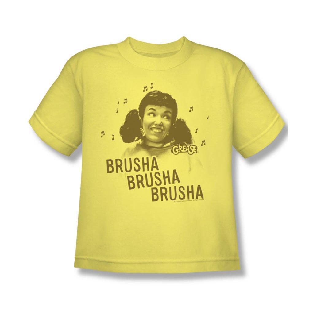 Grease - Youth Brusha Brusha Brusha T-Shirt In Banana