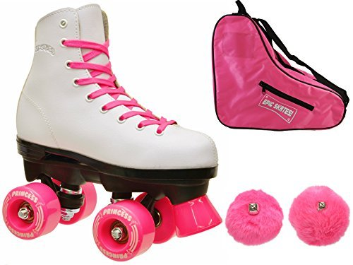 Epic Skates Epic Pink Princess Quad Roller Skates 3-piece Bu