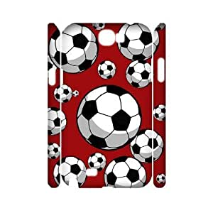 DIY Protective Snap-on Hard Back 3D Case Cover for Samsung Galaxy Note 2 N7100 with Soccer WANGJING JINDA