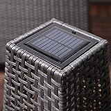 Grand Patio Outdoor Solar Powered Resin Wicker