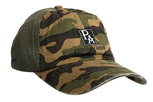 Primary Arms Tactical Camo Hat - Green/Woodland - Adjustable - ()