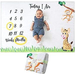 Comprar Manta Mensual De Bebé Para Fotos - Regalos Babyshower - Regalo Original para recién nacidos, mamas - Envíos Baratos o Gratis