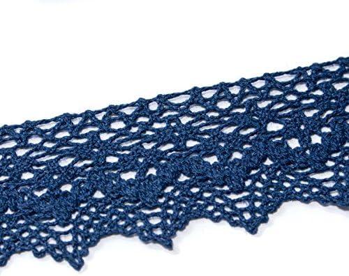 Encaje Puntilla de Bolillo 1,4 cms varios colores Azul