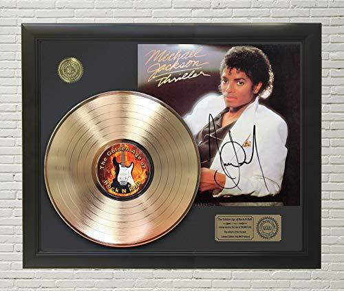 MICHAEL JACKSON - THRILLER FRAMED GOLD LP REPRODUCTION SIGNATURE -