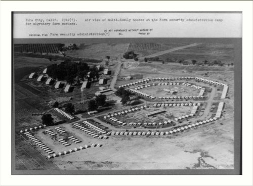 Historic Print (L): Yuba City, Calif. 1942(?) Air view of multi-family ()