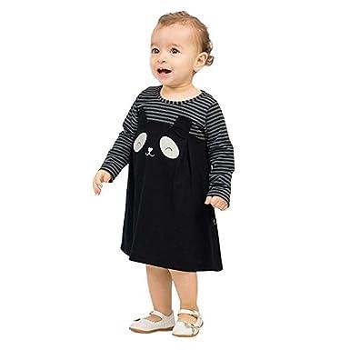 be58eb6c2cf97 Y56 Print Striped Dress For Baby Girl, Newborn Infant Baby Girls ...