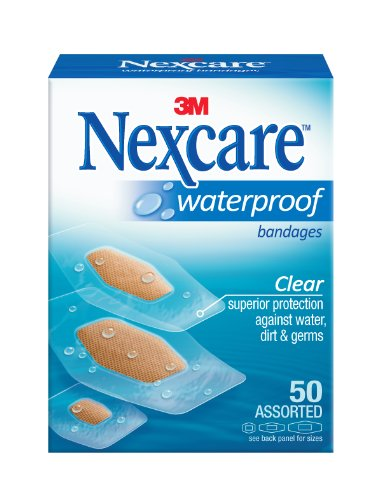 Nexcare Waterproof Clear Bandage Assorted Sizes, 50-Count Packages (Pack of 4), Health Care Stuffs
