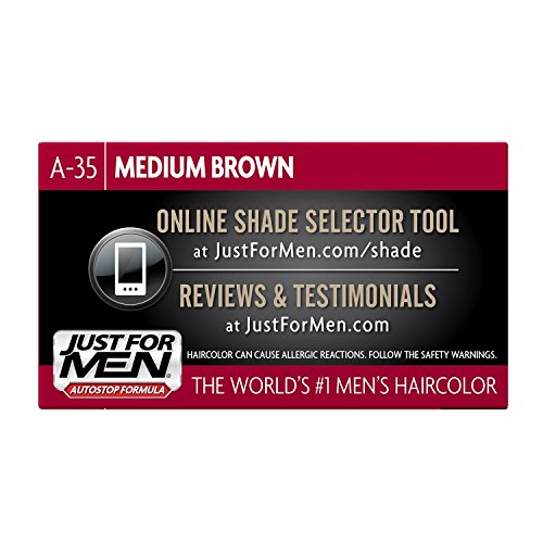 Just For Men AutoStop Men's Hair Color (6, Medium Brown) by Just for Men (Image #3)