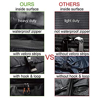 Seah Hardware Heavy Duty Car Top Carrier Roof Bag 100% Waterproof Rooftop Cargo Bag| Fit All Cars with or Without Rack | 15 Cubic Feet | with Straps: Automotive