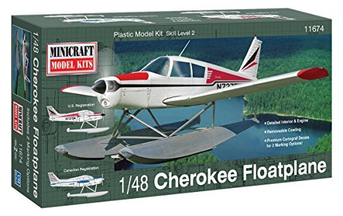 Minicraft Piper Cherokee Float Plane Airplane Model Kit (1/48 Scale) by Minicraft