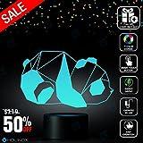 Geometric Panda Design Lamp, Panda lamp, Decoration lamp, 7 Color Mode, Awesome gifts (MT220)