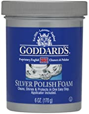 Goddards Silver Polisher - 170g/6 oz. Cleansing Foam with Sponge Applicator - Tarnish Remover