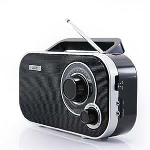 SEG KR 121 - Radio portátil FM, color negro (importado)