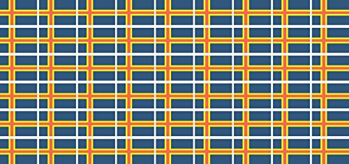 Mini Sticker Pack smooth - 20x12mm - Self-Stick - Aland Islands - Self-Adhesive - Flag Decals - for Car, Office and Home - 54 pieces