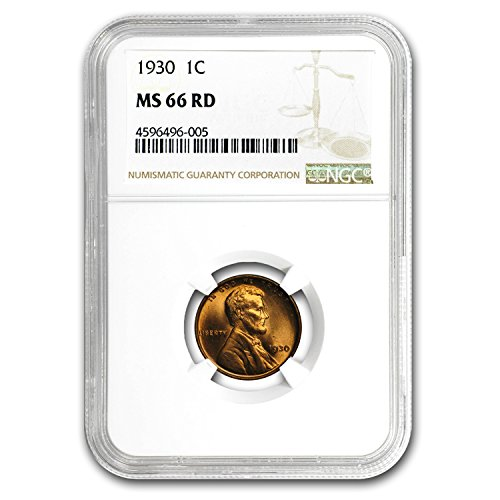 1930 Lincoln Cent MS-66 NGC (Red) Cent MS-66 NGC