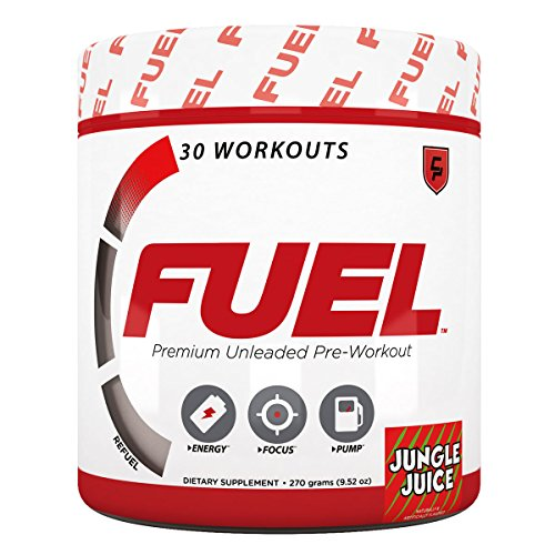 Fuel Pre Workout (Jungle Juice) Energy Drink w/Creatine and Caffeine for Men and Women to Increase Strength and Improve Workouts, Increase Energy, Nitric Oxide or NO Booster, Safe and Healthy, Vegan