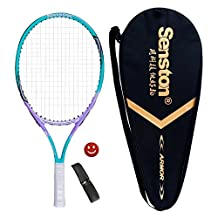 Senston Tennis Racket Adult 27-inch Junior Tennis Racquet for Kids 19-inch,23-inch Grip Size -2(4 1/4),Include a Case,a Vibration Dampener,an Overgirp