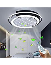 Met afstandsbediening Ultradun ontwerp LED-ventilator Plafondlamp Stille plafondventilator Licht Dimbaar Kinderkamer Eetkamer Ventilatorlamp Ventilator Plafondlamp Timing Ventilator Kroonluchter