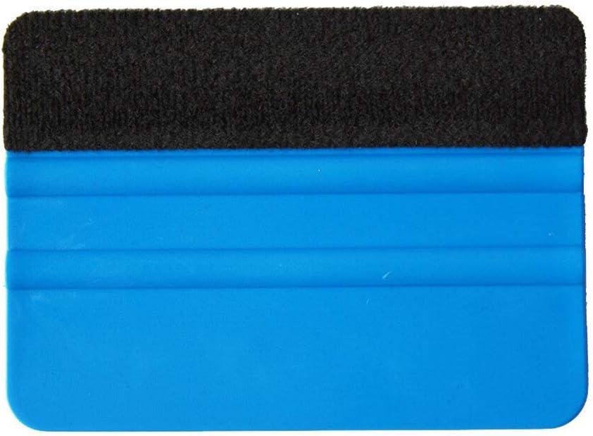 PoeHXtyy 10 St/ück Filzrand Rakel f/ür Auto Vinyl Scraper Decal Applikator Tool mit schwarzem Stoff Filzrand