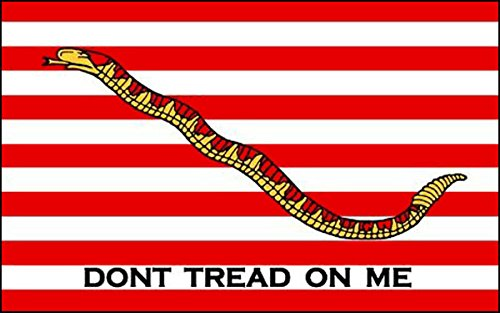 - NAVY JACK Flag Sticker (Don't Tread On Me naval decal)