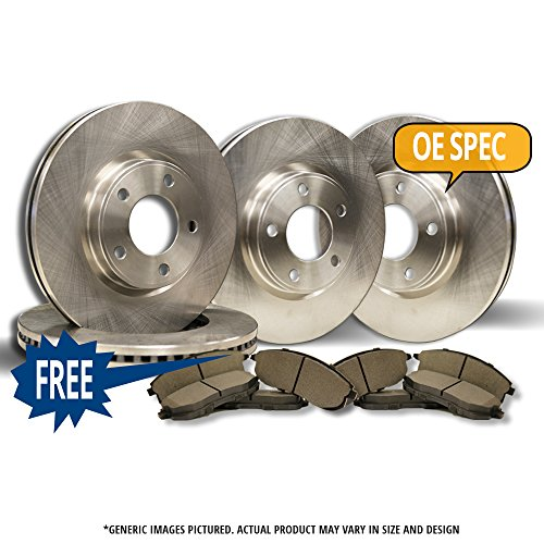 Front+Rear Kit|S-Series|Superb-Choice||Heavy-Duty|4 OEM Replacement Disc Brake Rotors|8 Semi-Metallic Pads|FORD EXCURSION F250 F3|8Lug (Front D756)