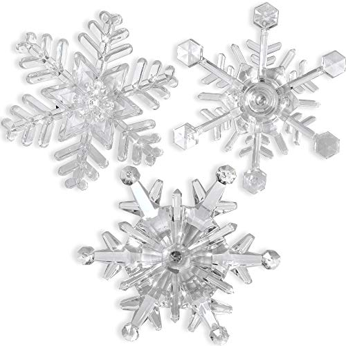 BANBERRY DESIGNS Snowflake Window Lights - Pack of
