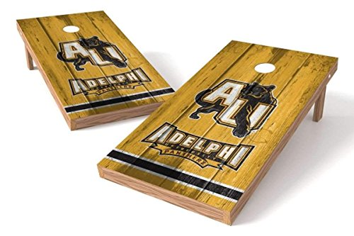 PROLINE NCAA College 2' x 4' Adelphi Panthers Cornhole Board Set - Vintage