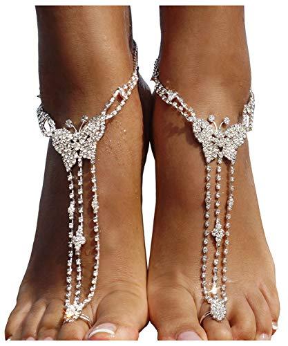ecd1cb8b4 Bellady Ankle Bracelet Women Sandals Foot Jewelry Wedding Chain 2pcs ...
