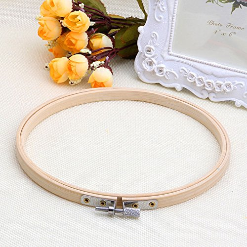 KICODE BigFamily Bamboo Frame Embroidery Machine Hoop Round Solid Home Handcraft Needlework Sewing Hand Tool Cross Stit