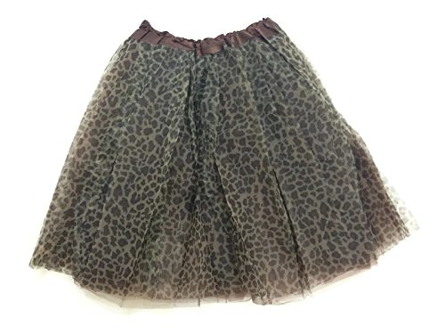 Rush Dance Women's Costume Ballet Warrior Dash Run Adult Tutu (Adult, Brown Cheetah)
