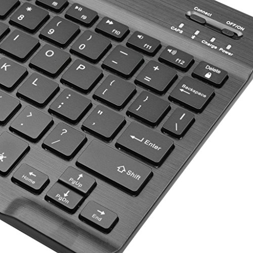 Arteck HB030B Universal Slim Portable Wireless Bluetooth 3.0 7-Colors Backlit Keyboard with Built in Rechargeable Battery, Black  by Arteck (Image #2)