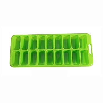 KAYLEY 18 Rejillas de Cubitos de Hielo Bandeja de Moldes Para Hielo de Plástico Herramientas de Cocina Creativas Rectángulo de Caja de Hielo (4 Unids): ...