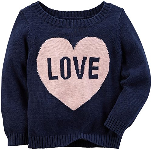 Carter's Baby Girls Sweater 235g548, Navy, 3M