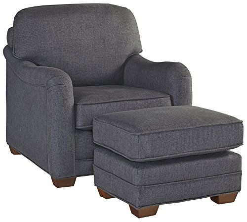 Magean Grey Stationary Chair and Ottoman by Home Styles (Chair And A Half And Ottoman Set)