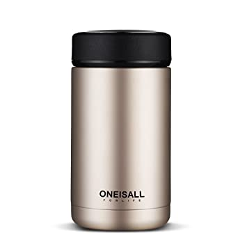 a78c1fb2407 ONE is All GYBL114 Men Gift Thermos Cup Insulated Stainless Steel Thermo Mug  with Tea Infuser