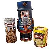 #9: Nutcracker Decorative Tin Hot Chocolate Cookie Gift Bundle 3 items