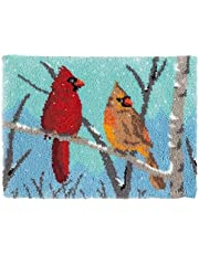 Latch Hook Kits Rug, Cardinal Crocheting Carpet Rug with Printed Canvas for Kids Adults Beginners, 20.5X15 Inch 2 - Cardinal