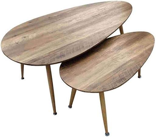 Zons Fly Lot De Tables Basses Gigognes Au Style Scandinave Entierement En Bois Amazon Fr Cuisine Maison