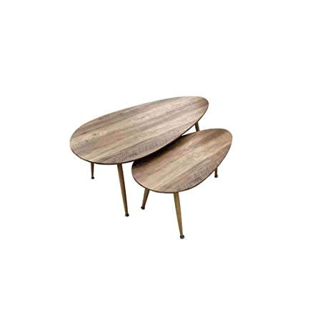 Zons Fly Lot De Tables Basses Gigognes Au Style Scandinave