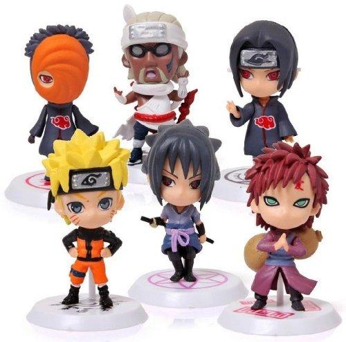 "3"" Naruto Gaara Itachi and Character Figure Set ~6 pcs Set~ #2"