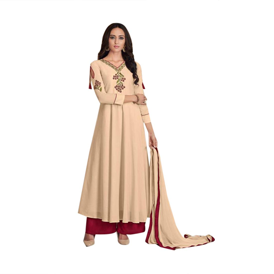 Eid special Indian Designer Maslin Plazo style Salwar Kameez Suit Women Evening Party wear Bespoke 7895 4