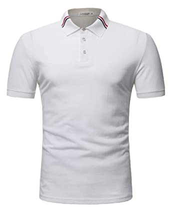 OTW - Polo de Golf de Manga Corta para Hombre - Blanco - Medium ...