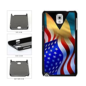 Bahamas And USA Mixed Flag Plastic Phone Case Back Cover Samsung Galaxy Note III 3 N9002