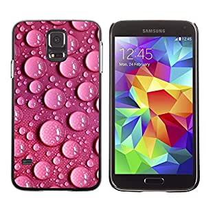 Be Good Phone Accessory // Dura Cáscara cubierta Protectora Caso Carcasa Funda de Protección para Samsung Galaxy S5 SM-G900 // Bubbles Water Dots Pink Wallpaper Design